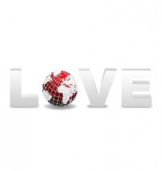 World love design vector