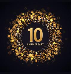 10 years anniversary isolated design vector