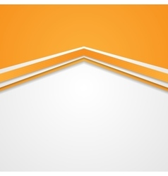 Abstract tech corporate orange background vector