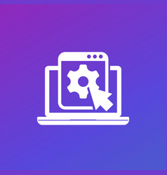 Admin panel icon for web apps vector