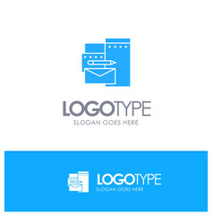 advertising branding identity corporate blue vector image