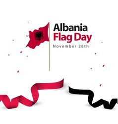 Albania flag day template design vector