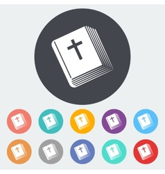 Bible single icon vector image