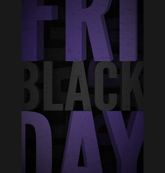 black friday sale banner for social media stories vector image