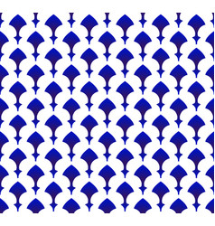 Blue and white modern ceramic pattern vector