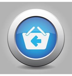 Blue button - shopping basket back vector