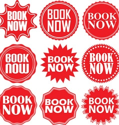 Book now red label Book now red sign Book now red vector