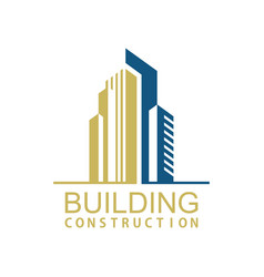 Building town construction logo vector