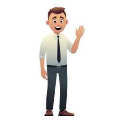 cartoon character beautiful young man smiling vector image