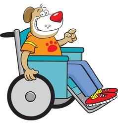 Cartoon Dog in a Wheelchair vector image