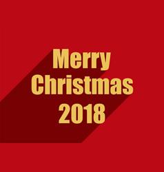Christmas card 2018 vector