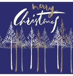 Christmas tree silhouette design for greeting vector image