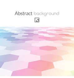 Colorful hex grid background texture vector image