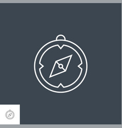 compass related line icon vector image