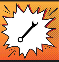 crossed wrenches sign comics style icon vector image