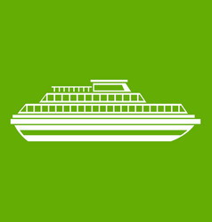 cruise ship icon green vector image