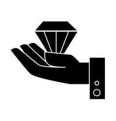 Diamond gem isolated icon vector