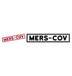 Distress mers-cov rectangular frame watermark vector