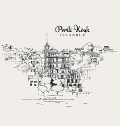 Drawing sketch perili kosk vector