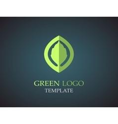 Eco green leaf logo template Green leaves loop vector