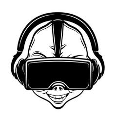 Extraterrestrial alien gamer vector
