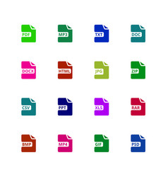 File format type icons download document vector