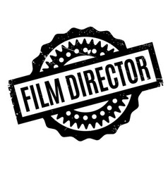Film director rubber stamp vector