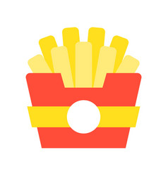 french fries food and gastronomy set flat icon vector image