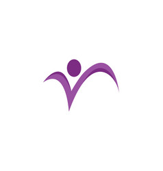 fun people healthy life logo template vector image