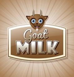 Goat milk label vector