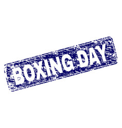 Grunge boxing day framed rounded rectangle stamp vector