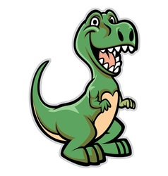 Happy dinosaur cartoon vector