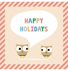 Happy holidays5 vector image