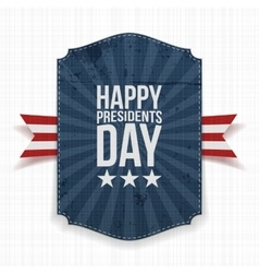Happy Presidents Day blue Banner with Ribbon vector