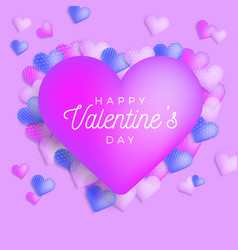 happy valentine day greeting banner with vector image