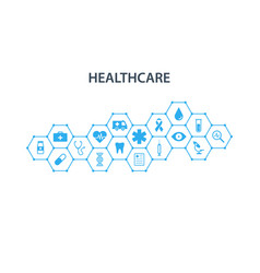 healthcare concept abstract hexagons shape vector image