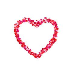 heart frame romantic decoration element valentine vector image