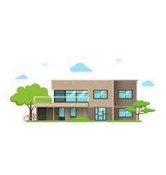 House flat design style vector