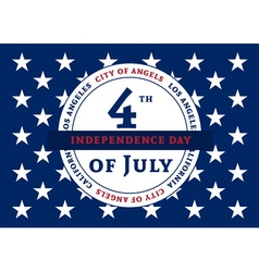 Independens day LA color stars vector