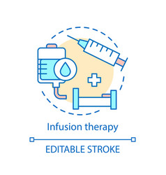 Infusion therapy concept icon vector