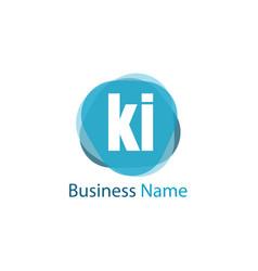 initial letter ki logo template design vector image