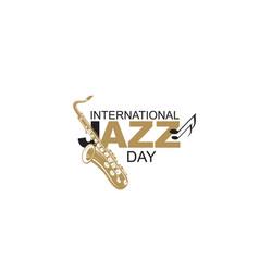 Jazz international day vector
