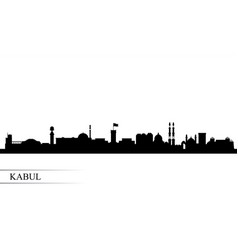 Kabul city skyline silhouette background vector