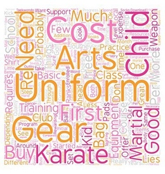 Karate Uniform Karate Gear What Does Your Karate vector image