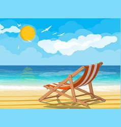 landscape palm tree on beach vector image