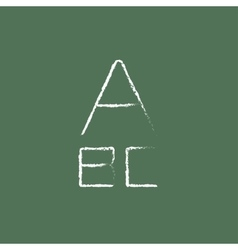 Letters icon drawn in chalk vector