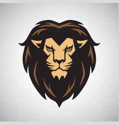 lion head mascot logo design art vector image