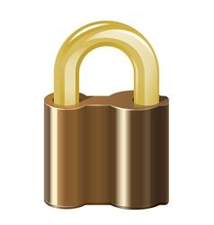 Locked padlock vector image