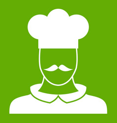 male chef cook icon green vector image