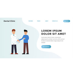 Medical landing webpage vector